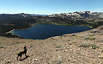 Bella looks over Upper Blue Lakes during a horseback ride to Lost Lakes in Alpine County, near Hope Valley, Ca., on Wednesday, Aug. 24, 2011..Photo by Cathleen Allison