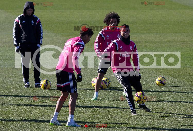 Cristiano Ronaldo during a sesion training at Real Madrid City in Madrid. January 23, 2015. (ALTERPHOTOS/Caro Marin) /NortePhoto<br /> NortePhoto.com