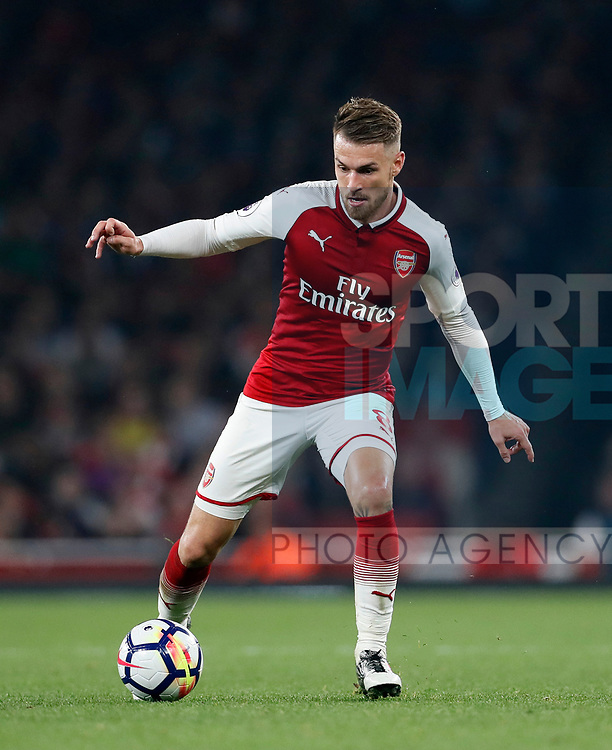 Arsenal's Aaron Ramsey in action during the premier league match at the Emirates Stadium, London. Picture date 25th September 2017. Picture credit should read: David Klein/Sportimage