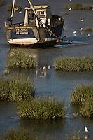 Europe/France/Picardie/80/Somme/Baie de Somme/ Le Crotoy: bateau de Pêche