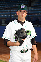 June 27th 2008:  Pitcher Andy Loomis of the Jamestown Jammers, Class-A affiliate of the Florida Marlins, during a game at Russell Diethrick Park in Jamestown, NY.  Photo by:  Mike Janes/Four Seam Images