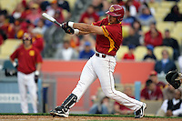 February 28 2010: Ricky Oropesa of USC during game against UCLA at Dodger Stadium in Los Angeles,CA.  Photo by Larry Goren/Four Seam Images