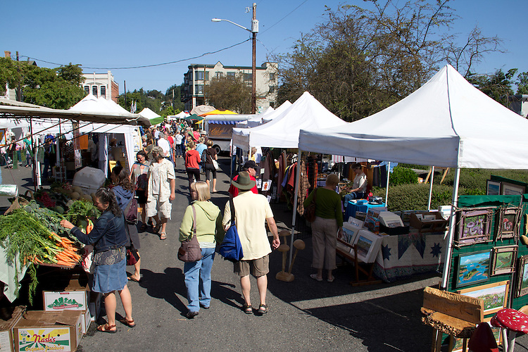 Port Townsend Farmers Market, Washington State, Pacific Northwest, USA,