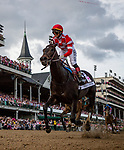 LOUISVILLE, KENTUCKY - MAY 03: Serengeti Empress with Jose Ortiz wins the Kentucky Oaks at Churchill Downs in Louisville, Kentucky on May 03, 2019. Evers/Eclipse Sportswire/CSM