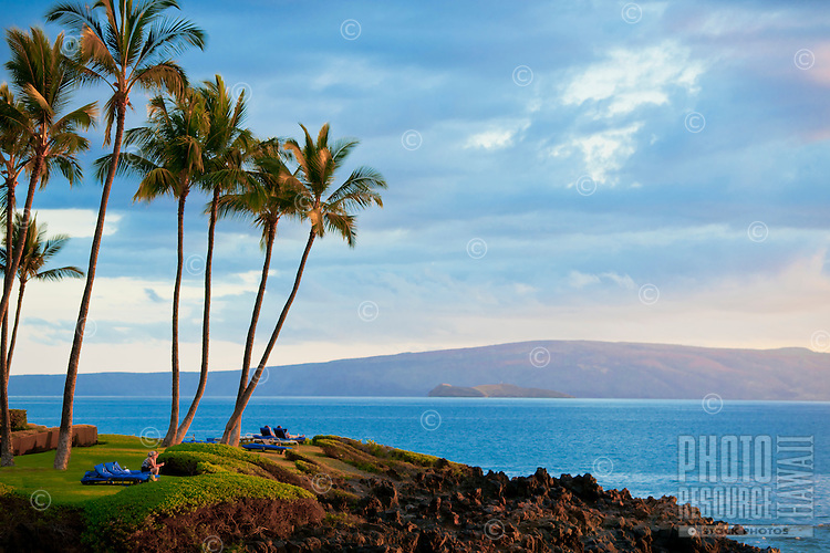 Late afternoon view of Kaho'olawe from Wailea Beach Resort, Maui