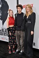 "LOS ANGELES, USA. June 04, 2019: Laura Dern, Ellery Walker Harper & Jaya Harper at the premiere for ""The Black Godfather"" at Paramount Theatre.<br /> Picture: Paul Smith/Featureflash"