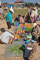 "Myanmar, Burma.  Local ""Five-Day"" Market, Inle Lake, Shan State.  Note Tripod Support for Scale."