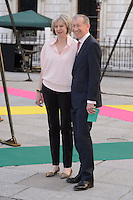 Home Secretary Theresa May &amp; husband Philip John May at the Royal Academy of Arts Summer Exhibition 2015 at the Royal Academy, London. <br /> June 3, 2015  London, UK<br /> Picture: Dave Norton / Featureflash