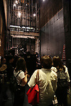 Palace Theater stage enterior during the Central Academy of Drama: Professors tour The Palace Theatre on September 25, 2017 at the The Palace Theatre in New York City.