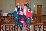 Pupils from Killuryl NS who were confirmed by Bishop Bill Murphy at Ballyduff Church on Monday 4th April. Feont : Adam O'Connell, rachael O'Hara, Vishop Bill Murphy, Aideen Casey & Joseph Leen. Back : Fr. Brendan Walsh & Mr. O'Regan.