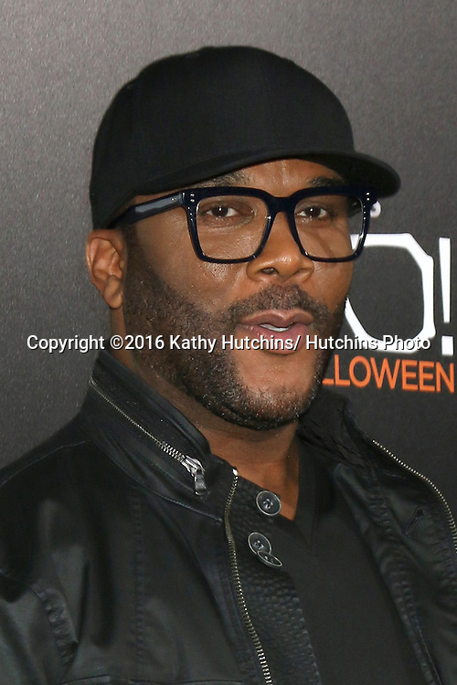"LOS ANGELES - OCT 17:  Tyler Perry at the ""Tyler Perry's BOO! A Madea Halloween"" Premiere at the ArcLight Hollywood on October 17, 2016 in Los Angeles, CA"