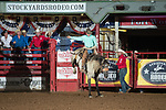 Logan Daniel during second round of the Fort Worth Stockyards Pro Rodeo event in Fort Worth, TX - 8.17.2019 Photo by Christopher Thompson