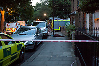 London, 14/06/2017. Documenting the aftermath of the tragic blaze of the Grenfell Tower and the immediate reaction of Londoners, and other members of the public, who actively rallied to assist the residents and the neighbours who survived this horrific fire, showing solidarity and donating food, water, toys and clothes.  <br /> Today at 00:54 BST, a huge and very fast fire engulfed the 24-storey block, Grenfell Tower, in north Kensington. Seventeen people have died and many residents remain missing. Thirty patients are still in hospital, seventeen people of whom are in critical conditions. Forty-five fire engines and more than 200 firefighters were called to extinguish the blaze, which was under control at 01:14 BST on Thursday. The Grenfell Tower was built in 1974 as public housing flats. It is managed by Kensington and Chelsea Tenant Management Organisation (KCTMO), the largest tenant management organisation in England, working on behalf of Kensington &amp; Chelsea Council. The tower block contains about 127 flats and between 400 and 600 people live in the building. The 'Safety Instructions' of the tower told people to &quot;stay put&quot; in their flat in case of fire. &lt;&lt;[&hellip;] Since 2013 the residents' organisation, Grenfell Action Group, had repeatedly expressed concern about fire safety and had warned in November 2016 that only a catastrophic fire would finally force the block's management to treat fire precautions and maintenance of fire-related systems to a proper standard [&hellip;]&gt;&gt; (Source &ndash; Wikipedia.org). The tower was renovated in 2015&ndash;16 with a &pound;10 million refurbishment project, which included new windows and new aluminium composite cladding and Reynolux material with thermal insulation (Caption updated on 15 June 2017, 22:42 BST).<br /> <br /> Met Police emergency number: 0800 0961 233<br /> <br /> For more info click here: https://en.wikipedia.org/wiki/Grenfell_Tower_fire &amp; http://www.bbc.co.uk/news/uk-england-