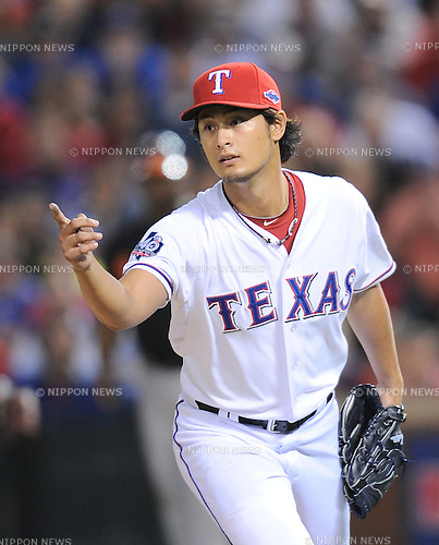 Yu Darvish (Rangers),.OCTOBER 5, 2012 - MLB :.Yu Darvish of the Texas Rangers in the seventh inning during the American League Wild Card Playoff game against the Baltimore Orioles at Rangers Ballpark in Arlington in Arlington, Texas, United States. (Photo by AFLO)
