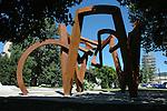 Scultura di Riccardo Cordero in piazza Galimberti. Cordero's sculpture in Torino.
