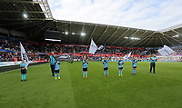 Guard of honour prior to the Premier League match between Swansea City and Chelsea at The Liberty Stadium on September 11, 2016 in Swansea, Wales.