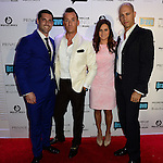 MIAMI BEACH, FL - JUNE 18: Chad Carroll, Christopher Leavitt and Guest attends Million Dollar Listing Miami Season One VIP Premiere Party at Nikki Beach on June 18, 2014 in Miami Beach, Florida. (Photo by Johnny Louis/jlnphotography.com)