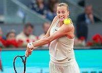 Petra Kvitova, Czech Republic, during Madrid Open Tennis 2018 match. May 11, 2018.(ALTERPHOTOS/Acero) /NORTEPHOTOMEXICO