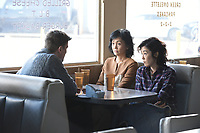 Oh Lucy! (2017)<br /> Josh Hartnett, Kaho Minami, and Shinobu Terajima  <br /> *Filmstill - Editorial Use Only*<br /> CAP/KFS<br /> Image supplied by Capital Pictures