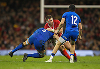 1st February 2020; Millennium Stadium, Cardiff, Glamorgan, Wales; International Rugby, Six Nations Rugby, Wales versus Italy; Wyn Jones of Wales is tackled by Niccolo Cannone of Italy
