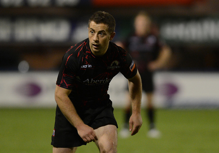 Edinburgh Rugby's Greig Laidlaw in action during tonights match ..Rugby Union - RaboDirect PRO12 - Pool 1 - Cardiff Blues v Edinburgh Rugby - Friday 7th September 2012 - Cardiff Arms Park - Cardiff....