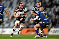 Gareth Evans of Hawkes Bay in action during the 2018 Mitre 10 Cup Championship rugby semifinal between Canterbury and Counties Manukau at Forsyth Barr Stadium in Dunedin, New Zealand on Saturday, 20 October 2018. Photo: Joe Allison / lintottphoto.co.nz