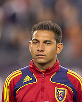 In a Major League Soccer (MLS) match, Real Salt Lake defeated the New England Revolution, 2-0, at Gillette Stadium on April 9, 2011.