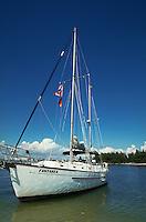 Sailboat at Shell Key, Florida's Gulf Coast. St. Petersburg, Florida.