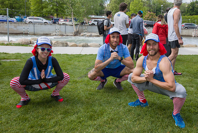 The Chasing Andy team during 2019 Reno Tahoe Odyssey start at Wingfield park in Reno on May 31, 2019.