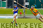 Dougie Fitzell Kilmoyley in action against Shane Conway Lixnaw in the Kerry County Senior Hurling championship Final at Austin Stack Park on Sunday.