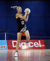 22.01.2015 Silver Ferns Katrina Grant in action during the netball test match between the Silver Ferns and Fiji at the Vodafone Arena in Suva Fiji. Mandatory Photo Credit ©Michael Bradley.