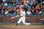Norichika Aoki (Giants),<br /> MAY 7, 2015 - MLB : Norichika Aoki of the San Francisco Giants bats against the Miami Marlins during the Major League Baseball game at AT&amp;T Park in San Francisco, California, United States.<br /> (Photo by Thomas Anderson/AFLO) (JAPANESE NEWSPAPER OUT)