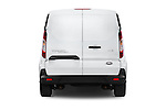 Straight rear view of a 2015 Ford Transit Connect XLT 4 Door Car Van Rear View  stock images