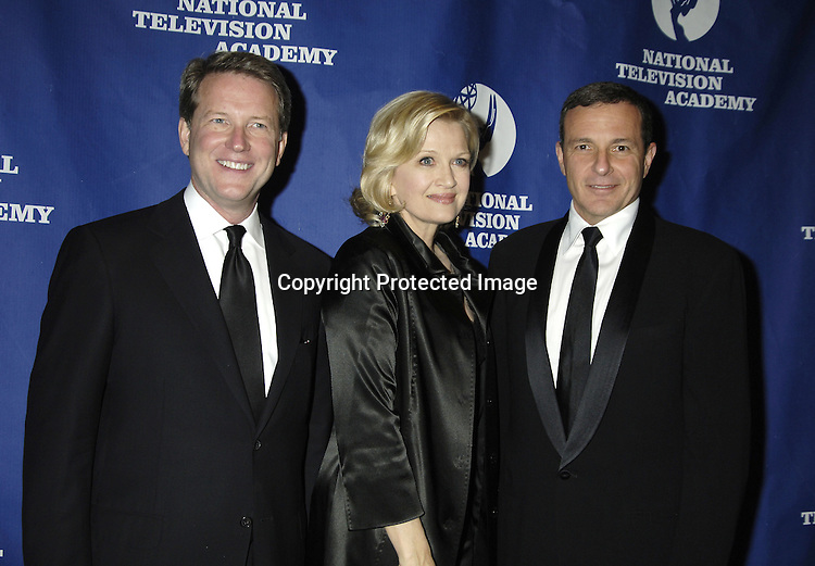 David Westin, Diane Sawyer and Robert Iger ..at The National Television Academy Dinner Honoring Robert Iger on October 20, 2005 at The Marriott Marquis Hotel. ..Photo by Robin Platzer, Twin Images