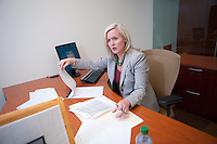 4/26/11 2:33:04 PM -- Blue Bell, Pa. -- Fox Rothschild Attorney Jennifer L. Schwartz at work in the Blue Bell, Pa. office April 26, 2011. -- Photo by William Thomas Cain/Cain Images for Fox Rothschild.