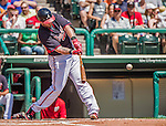 21 March 2015: Atlanta Braves outfielder Jonny Gomes in action during a Split Squad Spring Training game against the Washington Nationals at Champion Stadium at the ESPN Wide World of Sports Complex in Kissimmee, Florida. The Braves defeated the Nationals 5-2 in Grapefruit League play. Mandatory Credit: Ed Wolfstein Photo *** RAW (NEF) Image File Available ***