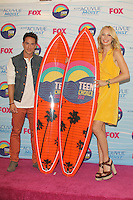 UNIVERSAL CITY, CA - JULY 22: Michael Trevino and Candice Accola in the press room at the 2012 Teen Choice Awards at Gibson Amphitheatre on July 22, 2012 in Universal City, California. &copy; mpi28/MediaPunch Inc. /NortePhoto.com*<br />