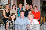 Birthday Party : Norella Moriarity, Listowel ceelebrating her birthday with family & friends at Mai Fitz's Restaurant, Listowel on Saturday night last. Front : Anne McNamee, Simon O'Flynn & Norella Moriarity. Back : Bridget Carr, Jenny Tarrant, Majella Stack, Leah Dore, Helen Dore & Carmel Canavan.