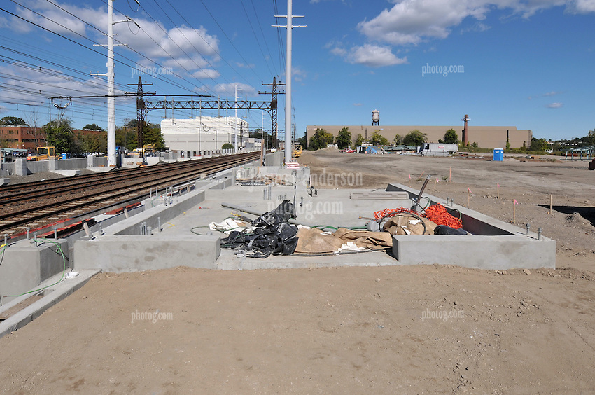 Construction Progress Railroad Station Fairfield Metro Center - One of 40 images from site visit 15 of once per month periodic photography