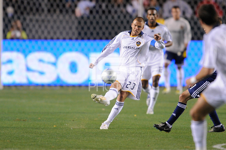 Los Angeles Galaxy's David Beckham during game against the New York Red Bulls at the Home Depot Center in Carson, Ca on Saturday, May 10, 2008. N.Y 2, L.A. 1.