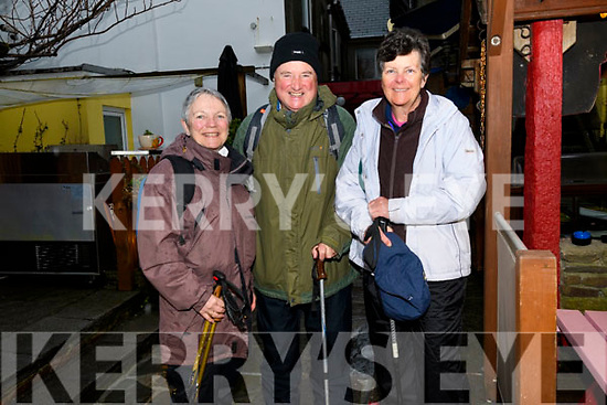 Mary Davies with Michael and Denise Murphy at the Dingle Walking Festival over the weekend.
