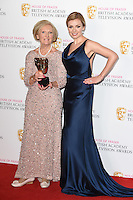 Mary Berry and Katherine Jenkins<br /> in the winners room at the 2016 BAFTA TV Awards, Royal Festival Hall, London<br /> <br /> <br /> &copy;Ash Knotek  D3115 8/05/2016