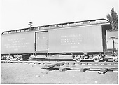 Baggage car #126 built by D&amp;RG as #27 in 1883.  Renumbered in September 1886.<br /> D&amp;RGW