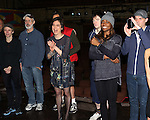 Charlotte d'Amboise, Terrence Mann, Director Diane Paulus, Matthew James Thomas & Patina Miller  attending the Broadway Opening Night Gypsy Robe Ceremony honoring Stephanie Pope for 'Pippin' at the Music Box Theatre in New York City on 4/25/2013