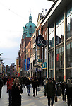 Shoppers on Henry Street, city centre of Dublin, Ireland, Irish republic