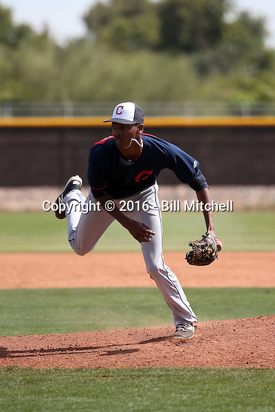 Triston McKenzie - Cleveland Indians 2016 spring training (Bill Mitchell)
