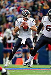 1 November 2009: Houston Texans' quarterback Matt Schaub looks for a receiver during a game against the Buffalo Bills at Ralph Wilson Stadium in Orchard Park, New York, United States of America. The Texans defeated the Bills 31-10. Mandatory Credit: Ed Wolfstein Photo