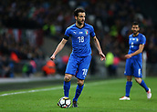 27th March 2018, Wembley Stadium, London, England; International Football Friendly, England versus Italy; Marco Parolo of Italy on the ball