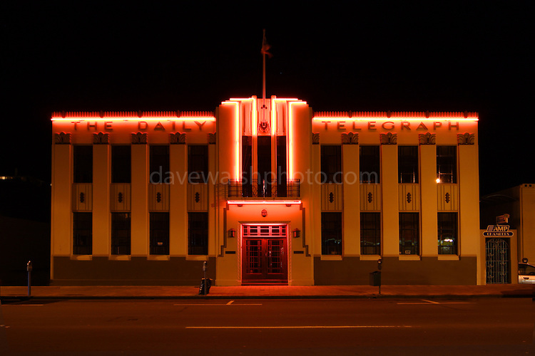 Daily Telegraph Building, Napier, New Zealand..Art Deco town - completely rebuilt in 1931 after an earthquake.