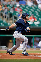 Mobile BayBears Brandon Marsh (9) during a Southern League game against the Montgomery Biscuits on May 2, 2019 at Riverwalk Stadium in Montgomery, Alabama.  Mobile defeated Montgomery 3-1.  (Mike Janes/Four Seam Images)